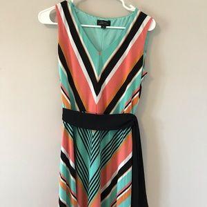 Tahari summer striped dress